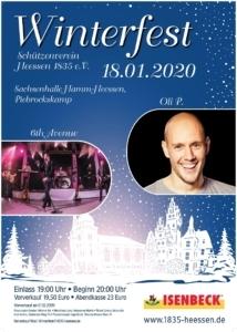 Werbeplakat Winterfest Heessen 2020