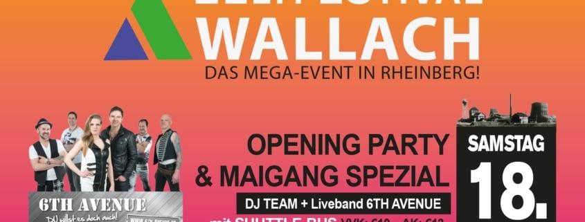 Plakat Zeltfestival Wallach